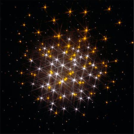 fiber optics nobody - Twinkling cluster of lights, digitally generated Stock Photo - Premium Royalty-Free, Code: 6106-05512555