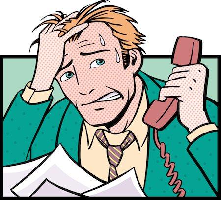 sweaty businessman - Overworked Businessman Stock Photo - Premium Royalty-Free, Code: 6106-05627594