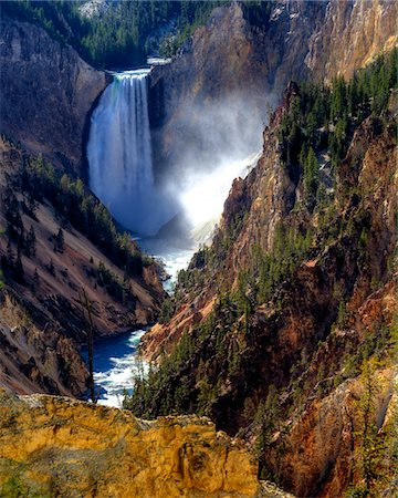 Lower Yellowstone Falls Stock Photo - Premium Royalty-Free, Code: 6106-05758810