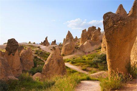 Rock pillars in Cappadocia Stock Photo - Premium Royalty-Free, Code: 6106-05787366