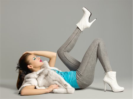 fur - Fashion Model Stock Photo - Premium Royalty-Free, Code: 6106-05787800