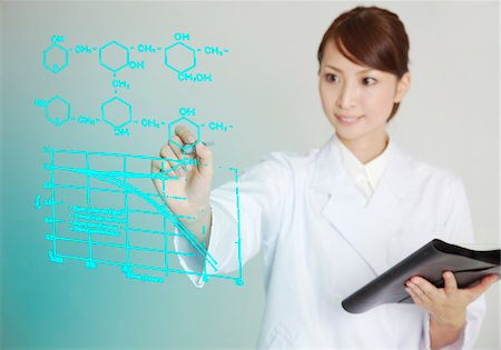 formula - Female scientist is writing chemical formula. Stock Photo - Premium Royalty-Free, Code: 6106-05788046
