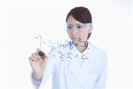 formula - The scientist of the woman who calculates. Stock Photo - Premium Royalty-Free, Code: 6106-05788061