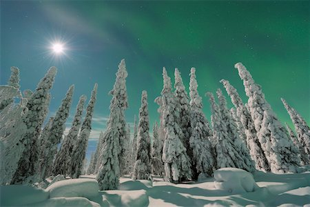 Nothern lights Stock Photo - Premium Royalty-Free, Code: 6106-05788330