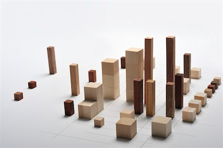 Small pieces of wood arranged like building Stock Photo - Premium Royalty-Free, Code: 6106-05810533