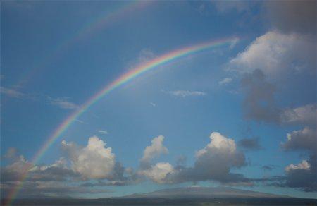 rainbow - Rainbow over the volcano Stock Photo - Premium Royalty-Free, Code: 6106-05951657