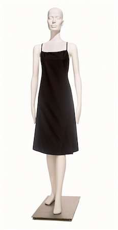 A simple little black dress on a mannequin Stock Photo - Premium Royalty-Free, Code: 6106-05951747