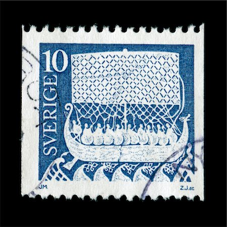stamped - Vintage postage stamp from Sweden Stock Photo - Premium Royalty-Free, Code: 6106-05951975