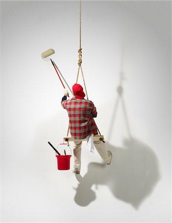 Hanging Painter Stock Photo - Premium Royalty-Free, Code: 6106-05952062