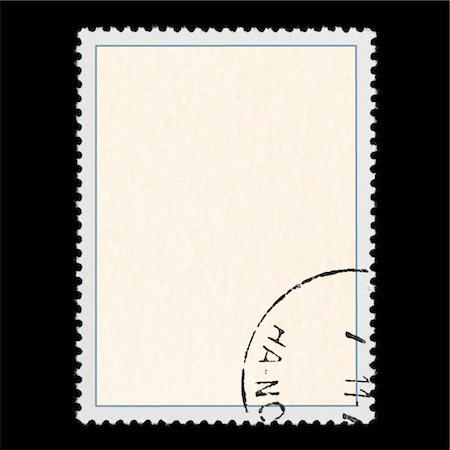 stamped - Blank postage stamp Stock Photo - Premium Royalty-Free, Code: 6106-05977838