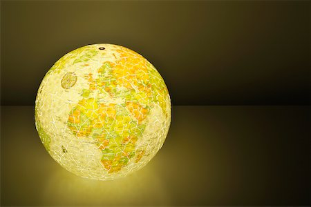 shiny - Globe puzzle shining from the inside Stock Photo - Premium Royalty-Free, Code: 6106-06042094