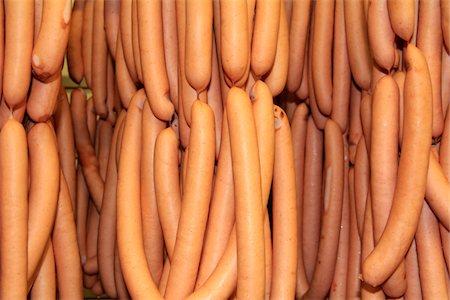 Vienna sausage at butchery Stock Photo - Premium Royalty-Free, Code: 6106-06042206