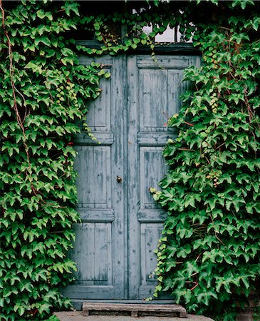 Blue door Stock Photo - Premium Royalty-Free, Code: 6106-06165408