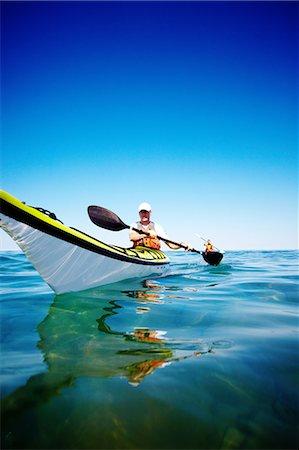 Kayaking on Georgian Bay Stock Photo - Premium Royalty-Free, Code: 6106-06114345