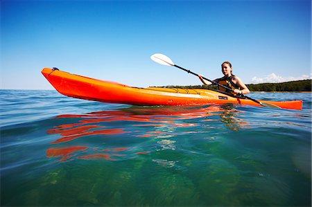 Kayaking on Georgian Bay Stock Photo - Premium Royalty-Free, Code: 6106-06114349