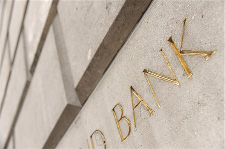 Bank Wall Stock Photo - Premium Royalty-Free, Code: 6106-06308048