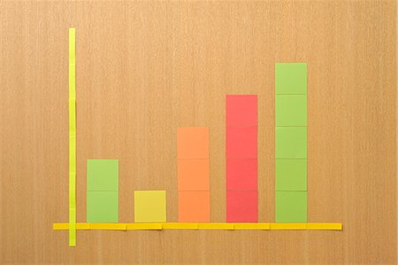 represented - Post-it note a representation of a graph Stock Photo - Premium Royalty-Free, Code: 6106-06308214