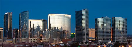 Part of Las Vegas Skyline in evening light Stock Photo - Premium Royalty-Free, Code: 6106-06308495