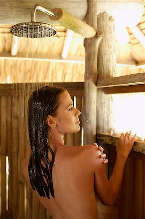 woman in shower Stock Photo - Premium Royalty-Free, Code: 6106-06310807