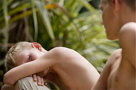 two young boys Stock Photo - Premium Royalty-Free, Code: 6106-06310910