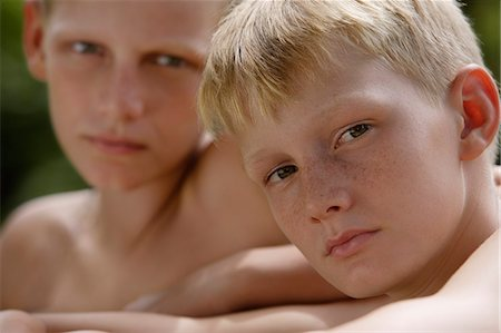 two young boys Stock Photo - Premium Royalty-Free, Code: 6106-06310912