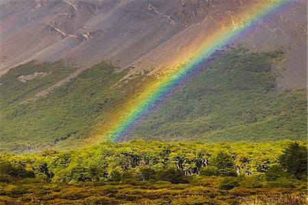 rainbow - Rainbow near Rio Blanco below Fitzroy massif. Stock Photo - Premium Royalty-Free, Code: 6106-06335941