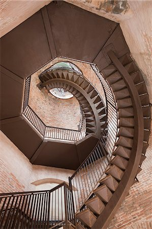 spiral - Spiral staircase in Lamberti Tower, Verona Italy Stock Photo - Premium Royalty-Free, Code: 6106-06495911