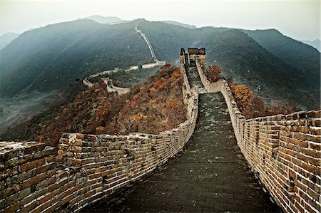 Chinese Great Wall, section at Mutianyu Stock Photo - Premium Royalty-Free, Code: 6106-06496227