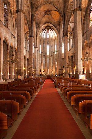 Barcelona, Spain. Basilica Santa Maria del Mar Stock Photo - Premium Royalty-Free, Code: 6106-06496761