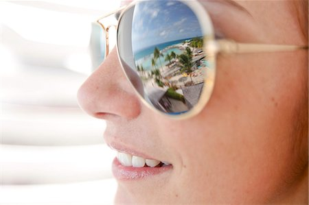 dark glasses - Woman looking the beautiful view Stock Photo - Premium Royalty-Free, Code: 6106-06496786