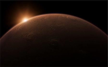Sunrise over Mars Stock Photo - Premium Royalty-Free, Code: 6106-06434854