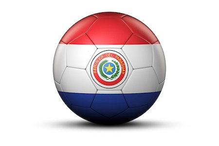 stars on white background - Flag of Paraguay on Soccer Ball Stock Photo - Premium Royalty-Free, Code: 6106-06434953