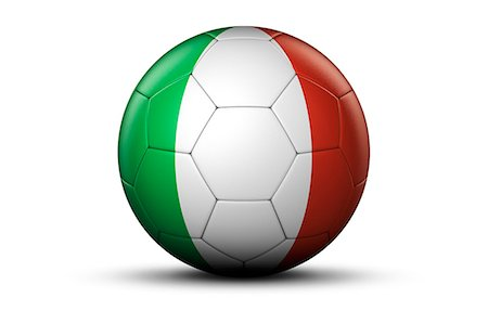 Flag of Italy on Soccer Ball Stock Photo - Premium Royalty-Free, Code: 6106-06434950