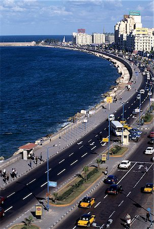 egypt - View of El Corniche in Downtown Alexandria, Egypt Stock Photo - Premium Royalty-Free, Code: 6106-06535181