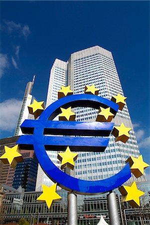 European Central Bank, Frankfurt, Germany Stock Photo - Premium Royalty-Free, Code: 6106-06535945