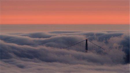 fog (weather) - North Tower Through Fog Stock Photo - Premium Royalty-Free, Code: 6106-06535997
