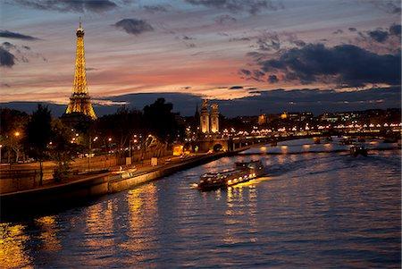 The Eiffel tower and Alexander III bridge Paris Stock Photo - Premium Royalty-Free, Code: 6106-06613768