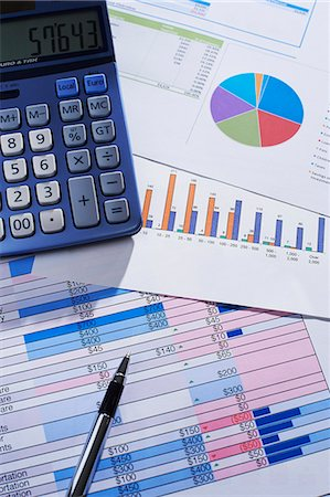 Financial calculations Stock Photo - Premium Royalty-Free, Code: 6106-06831246