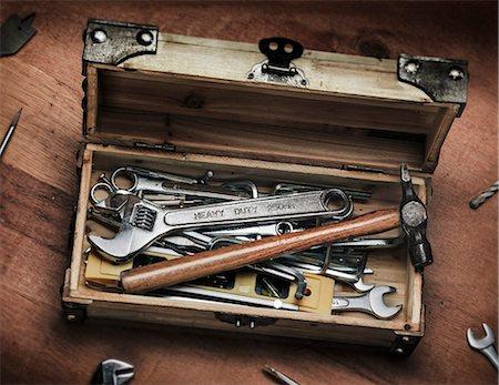 DIY wooden toolbox Stock Photo - Premium Royalty-Free, Code: 6106-06831264