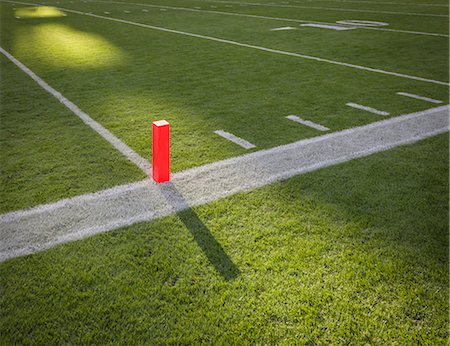 scoring - Goal line marker on  football field. Stock Photo - Premium Royalty-Free, Code: 6106-06831714