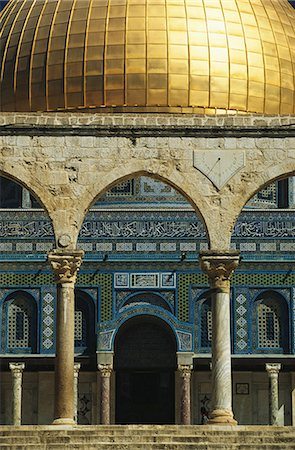 Isreal, Jerusalem, Dome of the Rock, Omar Mosque Stock Photo - Premium Royalty-Free, Code: 6106-06977929