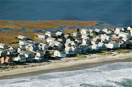 USA, Maine, York Beach, summer houses, aerial view Stock Photo - Premium Royalty-Free, Code: 6106-06982366