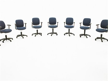descriptive - Semi-circle of office chairs Stock Photo - Premium Royalty-Free, Code: 6106-06982585