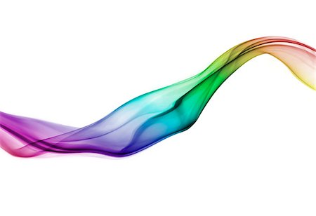 Rainbow coloured curve of smoke Stock Photo - Premium Royalty-Free, Code: 6106-07070423
