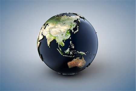 World globe, Asia and Pacific Stock Photo - Premium Royalty-Free, Code: 6106-07070674