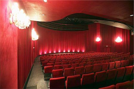 Empty Illuminated Theatre Stock Photo - Premium Royalty-Free, Code: 6106-07008385