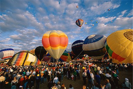 Hot air balloons on ground Stock Photo - Premium Royalty-Free, Code: 6106-07021180