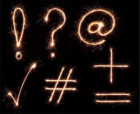 Sparkling Punctuation Symbols Stock Photo - Premium Royalty-Free, Code: 6106-07029440