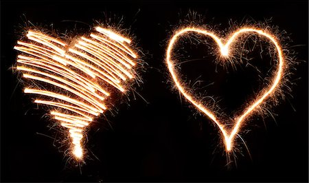fireworks colored picture - Sparkling hearts Stock Photo - Premium Royalty-Free, Code: 6106-07029439