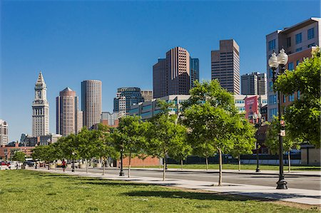 The town from Rose Kennedy Greenway Fotografie stock - Premium Royalty-Free, Codice: 6106-07120695